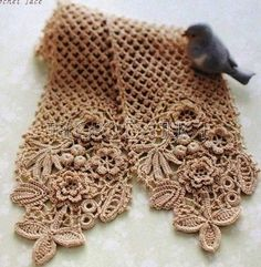 Irish crochet scarf