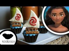 How to make Disneys Princess Moana: Cupcakes - YouTube