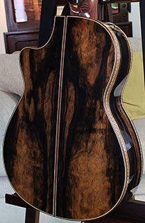 Macassar Ebony acoustic guitar