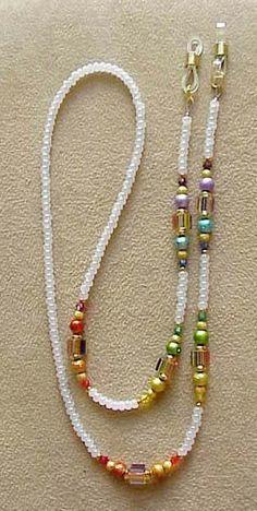 Rainbow Furnace Glass Eyeglass Chain Holder por en Etsy Informations About Rainbow Furnace Glass Eyeglass Chain Holder Pin You Waist Jewelry, Boho Jewelry, Beaded Jewelry, Jewelery, Handmade Jewelry, Fashion Jewelry, Jewelry Design, Beaded Bracelets, Crystal Jewelry
