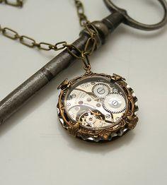 Steampunk Necklace For Him Steampunk Watch Unisex by DesignsBloom, $44.99