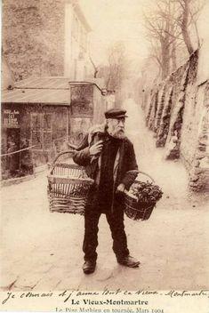 RUE SAINT VINCENT 1904 A GAUCHE LE LAPIN AGILE A DROITE IL Y A MAINTENANT LES…