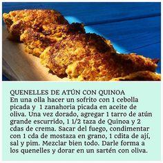 QUENELLES DE ATÚN CON QUINOA