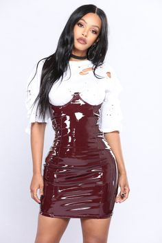 0a26e9fd7b19 Available In Burgundy Latex Underwire Back Lace Up Zipper Back Skirt 40%  Cotton 30%