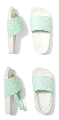 A slip-on-and-go pair made for warmer days. Made from fine fabrics, beautifully designed and great quality that can be passed down or treasured forever.  #slipon #mint #girlaccessories #afflink