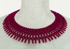 Free pattern for necklace Jane