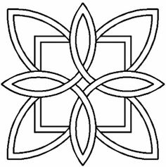 Quilt Stencil Celtic Floral Design By Siedlecki, Barbara Quilting Stencils, Quilting Templates, Quilting Designs, Stencil Templates, Celtic Quilt, Celtic Symbols, Celtic Art, Celtic Knots, Celtic Mandala