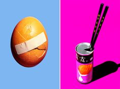 Chinese can, 2013, and crack 2014 (both personal work) by Maurizio Di Iorio