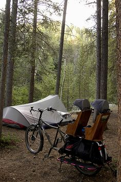 They've Got It Figured Out Bike Camping For more great camping info go to http://CampDotCom.Com #camping #campinghacks #campingfun