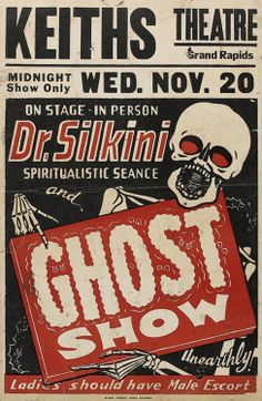 vintage Ghost Show poster from Grand Rapids Mi