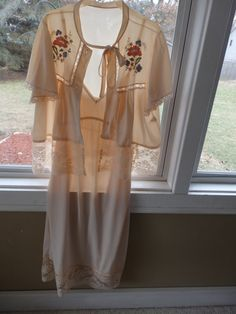 Nightgown Sets Peach Nightgowns Lace Peignoirs Retro