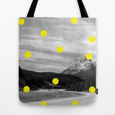 Yellow Tote Bag by Happy Red Fish Art