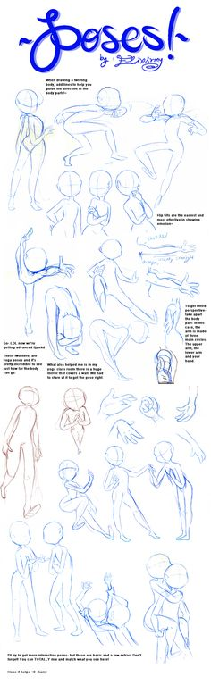 Poses 2 by ~Elixirmy on deviantART