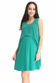 Spring Maternity Fay Layer Nursing Dress in Jade. Please use coupon code  NewProducts to receive 4f80a1b81e1b