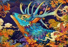 https://www.behance.net/gallery/30481403/Autumn-deer