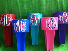 Monogrammed Beach Spiker - a spring break  - summer vacation must have on Etsy, $10.00