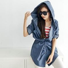 Buy 'BAIMOMO – Hooded Drawstring-Waist Jacket' with Free International Shipping at YesStyle.com. Browse and shop for thousands of Asian fashion items from Taiwan and more!