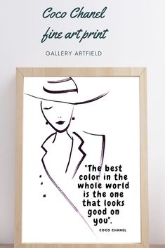 The best color in the whole world is the one that looks good on you Fashion Wall art Fashion Art Printable Art Inspirational Poster COCO CHANEL QUOTES Coco Chanel Wall Decal Coco Chanel Wallpaper, Chanel Wallpapers, Chanel Canvas, Chanel Art, Wall Art Prints, Fine Art Prints, Chanel Poster, Coco Chanel Quotes, Scandinavian Bedroom