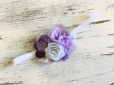 Baby Girl Headband Baby Headbands flower от AvryCoutureCreations