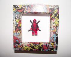 Framed Deadpool Figure - Lego Inspired Art Piece with Marvel Frame | eBay