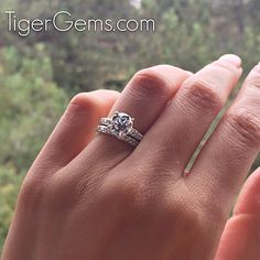 The 2.5 carat solitaire accented wedding set with a 2 carat center.  Shop now at TigerGems.com  ✨  #handmade #diamondring #manmadediamond #proposal #bride #groom #paris #engagementring #mermaid #birthdaygirl #fitness #hawaii #mountains #blakelively #anniversary #igers #california #nails #frenchmanicure #roses #yoga #datenight #makeup #fitmom #bridal #wedding #bridesmaid #weddingday #photography #tigergemstones