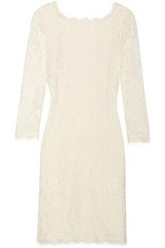 Diane von Furstenberg Lace Mini Dress #rehearsaldress #wedding #weddingdress