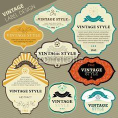 Cool vintage labels