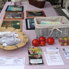 Local grown tomatoes, locally saved seeds, local made crafts