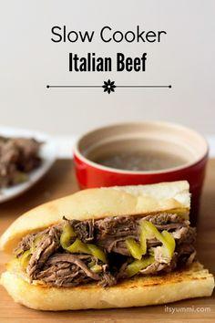 italian beef italian beef recipes slow cooker italian beef italian ...
