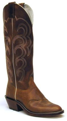 Mens Olathe Crazyhorse Rust Burnish Cowboy Boot