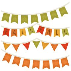 $$ Fall Banners SVG cutting file for scrapbooking autumn svg cut files free svgs cute cut files for cricut