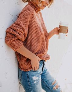 Chamomile and Honey Sweater – Selina Jade Boutique Only Fashion, Women's Fashion, Modest Fashion, African Fashion, Winter Fashion, Fashion Trends, Loose Sweater, High Collar, Casual Outfits