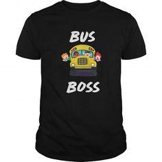 I Love Bus Boss School Bus Driver Monitor T-Shirt T-Shirt