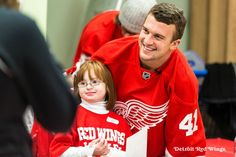 Thank you, Luke Glendening, of the Detroit Red Wings!  You made some of our DSG families' Christmas!