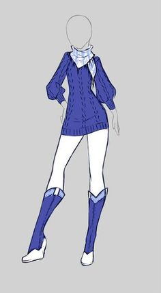Cute blue anime outfit
