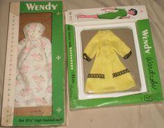 RARE Vintage EARLY 60'S Barbie Midge Clone Wendy Elite Fashions W/ Box NR