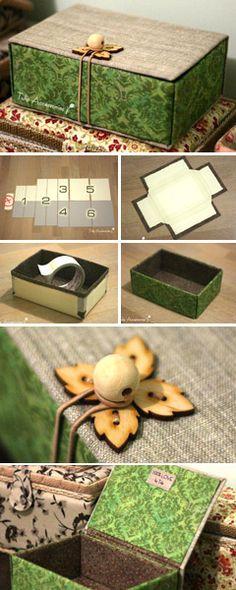 DIY Project: Jewellery Box of Cardboard Tutorial  http://www.handmadiya.com/2017/04/box-of-cardboard-tutorial.html