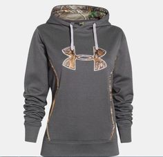 NEW Under Armour Hoodie Storm Caliber Sweatshirt Gray Carbon Heather Camo Small #UnderArmour #Hoodie