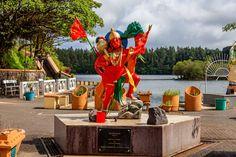 ganga taiao, hindu, hinduism, lake, lord vee hanuman, mauricius, mauritius 4k wallpaper and background
