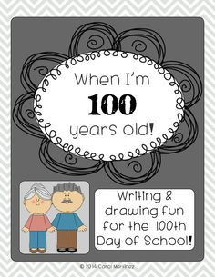 Add some fun to your 100th Day of School routine.  Your students will be drawing and writing about themselves as 100 year olds.  Super cute bulletin board idea! $ Kindergarten Drawing, Kindergarten Crafts, 100 Days Of School, School Daze, School Fun, School Ideas, Cute Bulletin Boards, 100s Day, School Routines