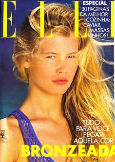 Claudia Schiffer - Fashion Icon - Style - Grace - Beauty - In my opinion, she was so much prettier when she was younger. Don't like that heavy makeup on her.