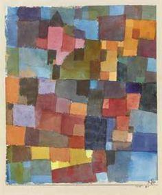 Paul Klee(1879 - 1940)Switzerland  TitleRaumarchitekturen (auf Kalt-warm)  MediumWatercoloron paper