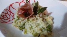 risotto asparagi e speck