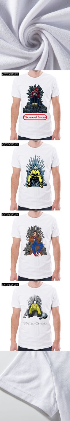Breaking Bad Game Of Thrones Men T-shirt Walter is Coming Printed Funny Throne of Time t shirts Short Sleeve Casual Hipster Tops