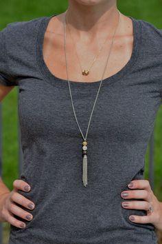 M&J Trimming - Metal Tassel Necklace