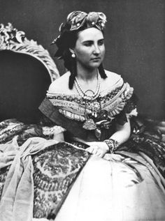 Portrait of Empress Carlota of Mexico, ca 1864 Mexico City?    I'm assuming that this was taken during her short time in Mexico before her entire existence went down the toilet.