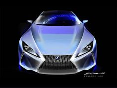 Lexus LF-LC Concept Design Sketch by Edward Lee