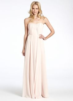 Petal crinkle chiffon over cashmere lining A-line strapless gown, natural waist, peekaboo cut out at center back Bridesmaids Dresses: Junior, Maternity & Flower Girl Dresses by Jim Hjelm Occasions - Bridesmaids and Special Occasion Style jh5504 by JLM Couture, Inc.