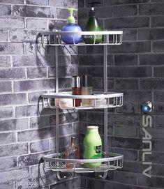 Wire Triple Shelf Corner Shower Basket 5131