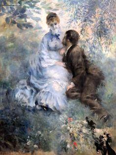 Pierre-Auguste Renoir (1841-1919) Les amoureux. The Lovers. 1875 Paris. Trade Fair Palace, Prague/ Veletrzní palác, Praha